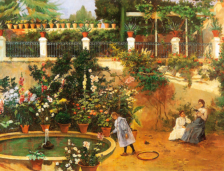 Luz García-Duarte. Nuestro jardín, 1899