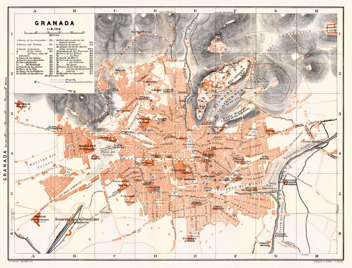 Plano de Granada, 1911.