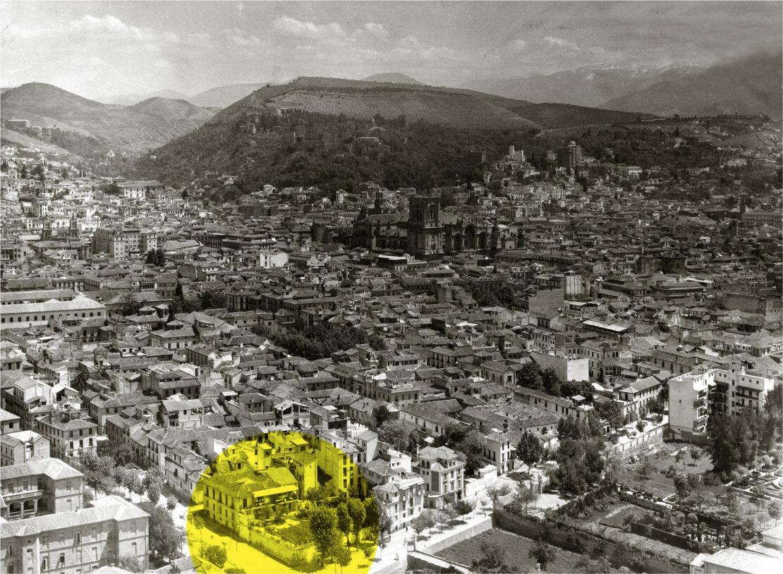 Vista general de Granada en la década de 1950