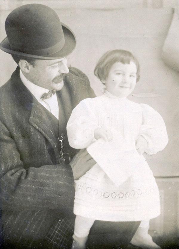 Francisco Ayala con su padre