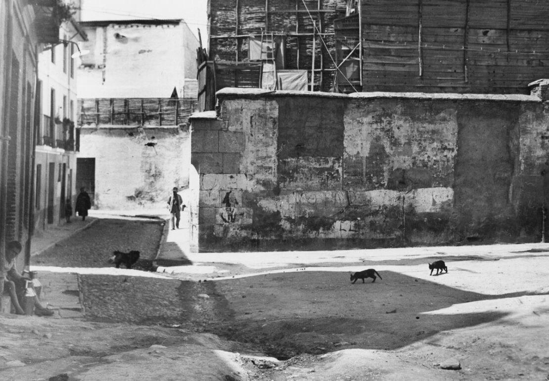 Vista del antiguo barrio de la Manigua en los años treinta